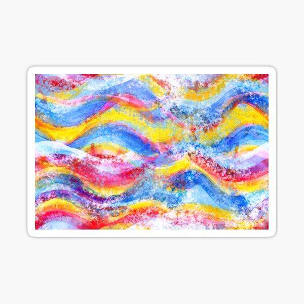 Rainbow waves watercolor Sticker