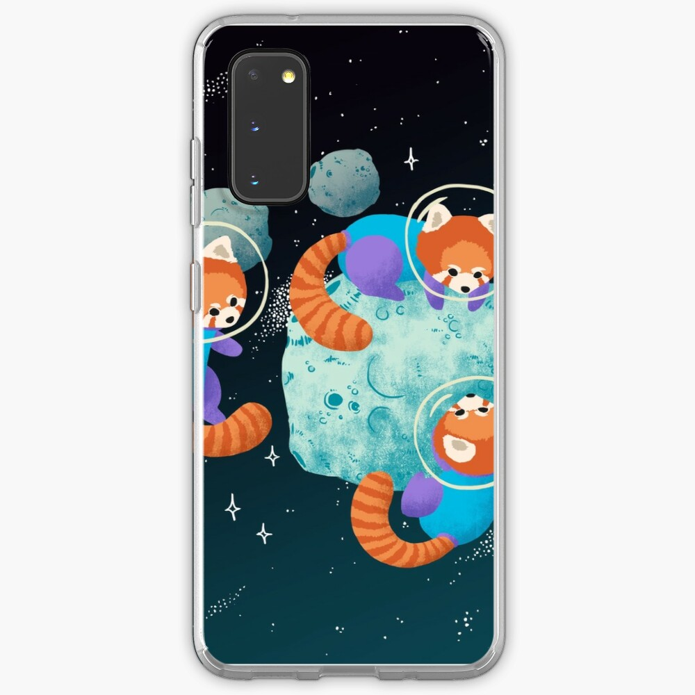 Red Space Pandas Case & Skin for Samsung Galaxy