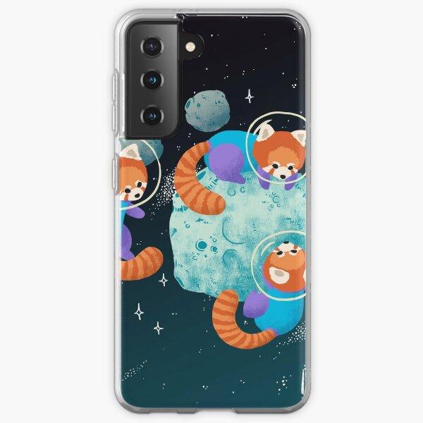 Red Space Pandas Samsung Galaxy Soft Case