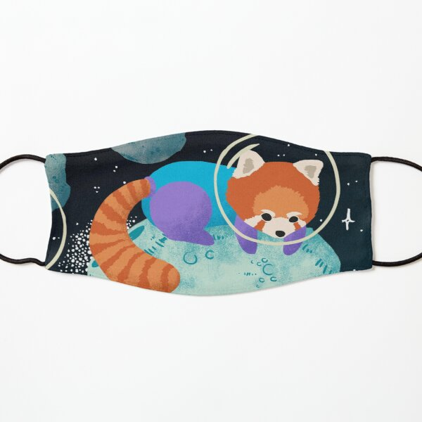 Red Space Pandas Kids Mask