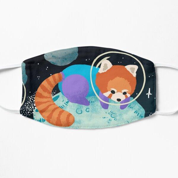Red Space Pandas Flat Mask