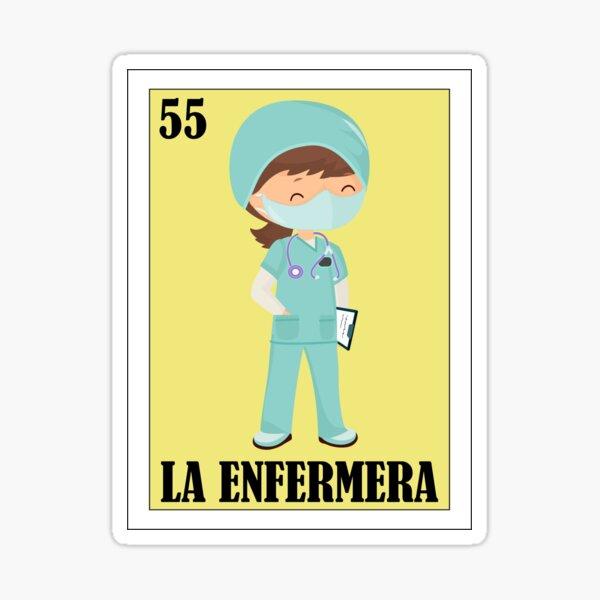 Loteria Mexicana - La Enfermera - Loteria Mexicana - Regalo para Enfermera Pegatina