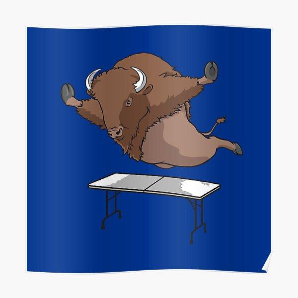 Real Buffalo Bills Mafia Buffalo Bills Superfan table dive Design Poster