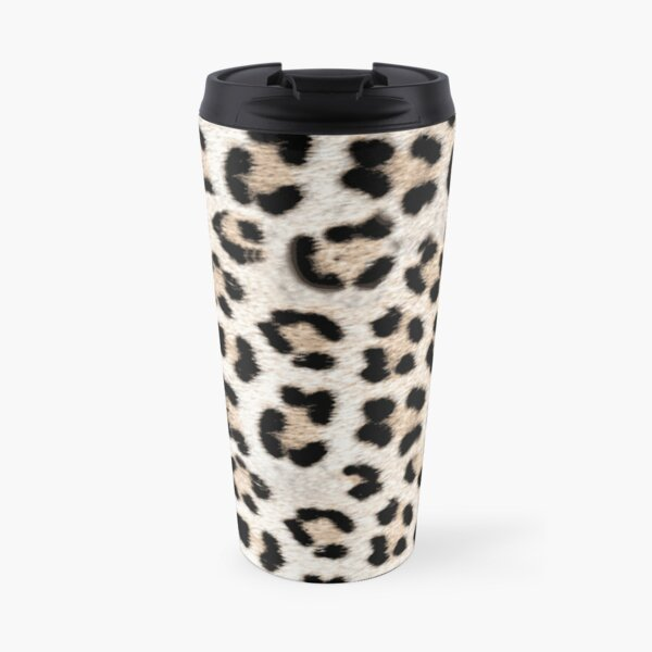 Leopard Print in Leopard Spots Pattern Travel Mug