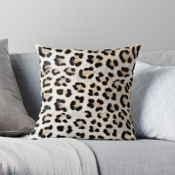 Leopard Print in Leopard Spots Pattern Throw Pillow