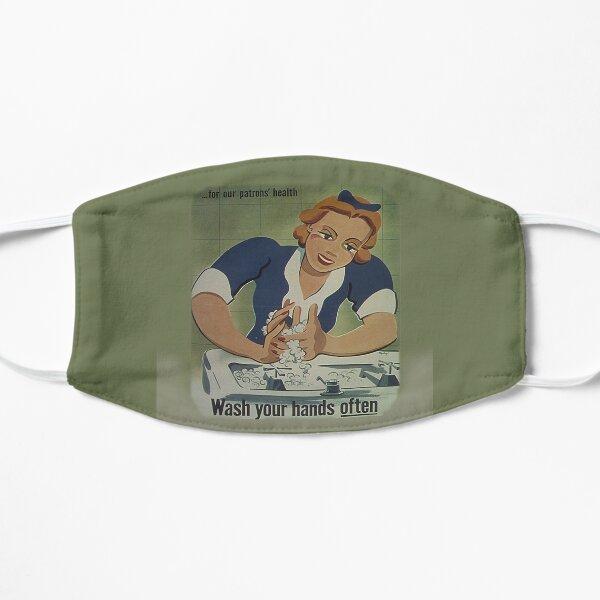 Vintage Patrons Health Wash Your Hands Often, RBSSG Mask