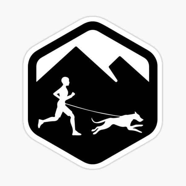 Corredor de Canicross logo Pegatina