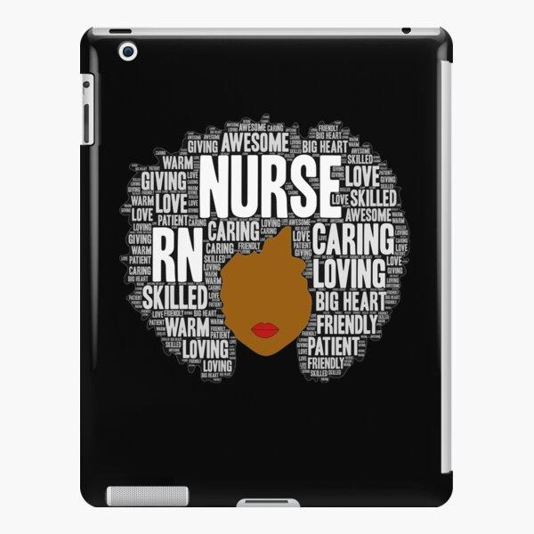 Afro Art Gift for Black Nurse RN LPN iPad Snap Case