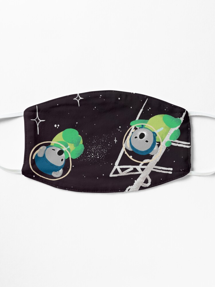 Alternate view of Space Koalas Mask