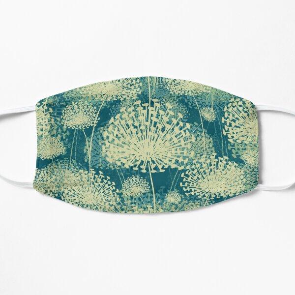Dandelions vintage blue Mask
