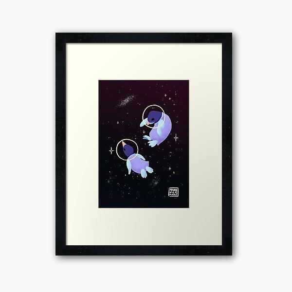 Space Penguins Framed Art Print