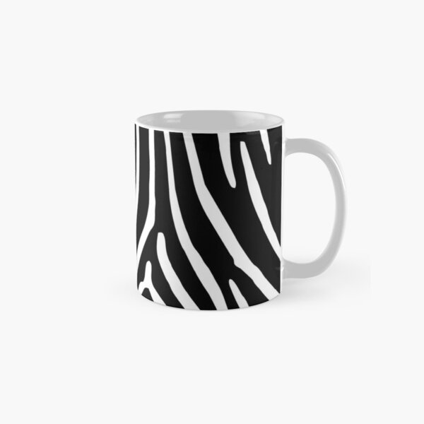 Zebra Print in Zebra Stripes Pattern Classic Mug
