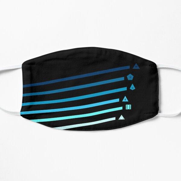 Blue Streaking Dice Flat Mask
