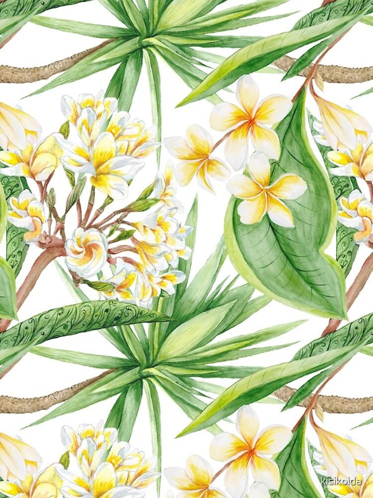 Watercolor Tropical Plants by kisikoida
