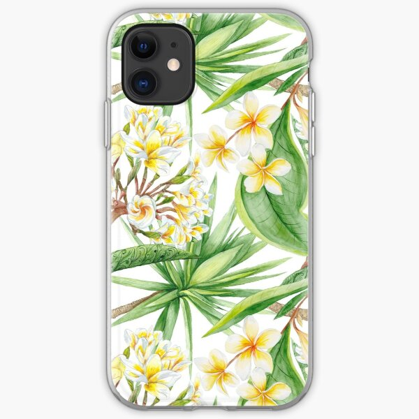 Watercolor Tropical Plants iPhone Soft Case