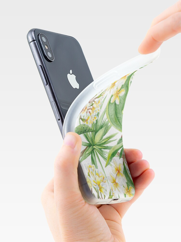 Alternate view of Watercolor Tropical Plants iPhone Case & Cover