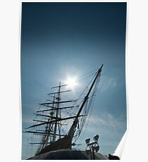 Masts and Prow of the Cutty Sark Poster