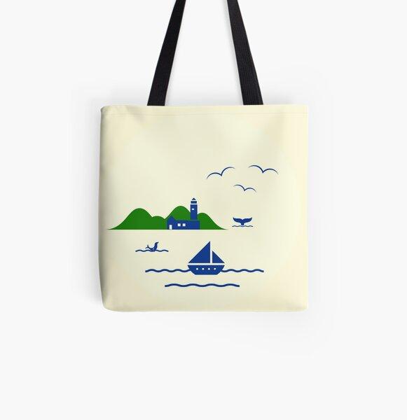 Schönen Urlaub Allover-Print Tote Bag