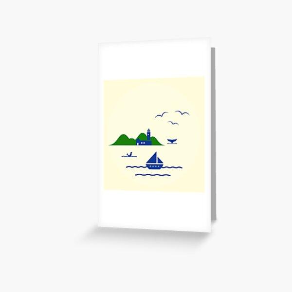 Schönen Urlaub Grußkarte