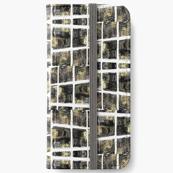 Green, diamond, Africa, deco, optical illusion iPhone Wallet
