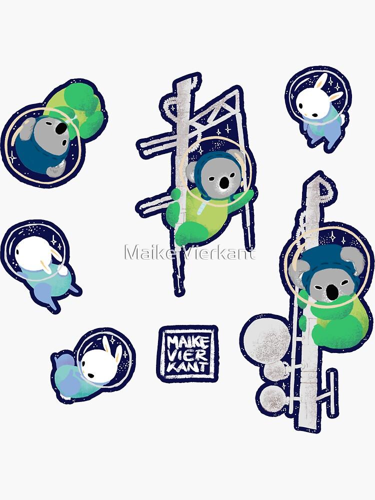 Space Animals Sticker Set 2 by Vierkant