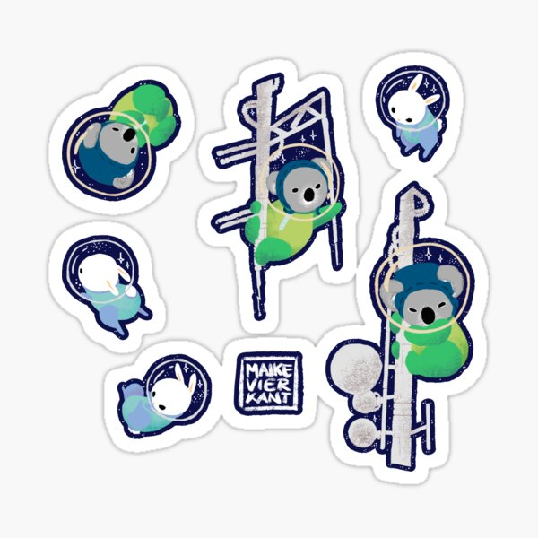 Space Animals Sticker Set 2 Sticker