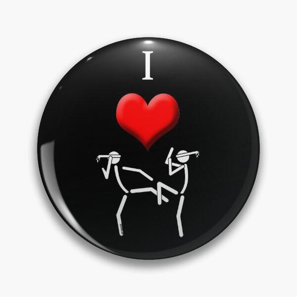 I Love Muaythai Pin