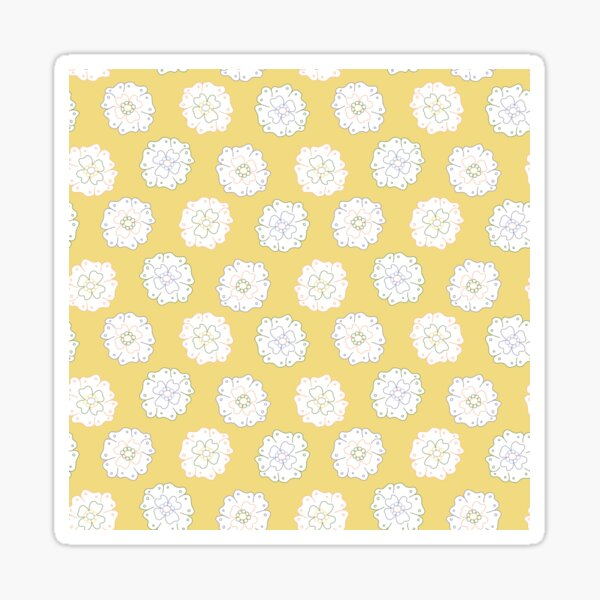 Flower Doodle LineArt Collection Seamless Surface Pattern Sticker