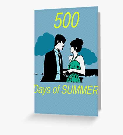 500 days of Summer Greeting Card