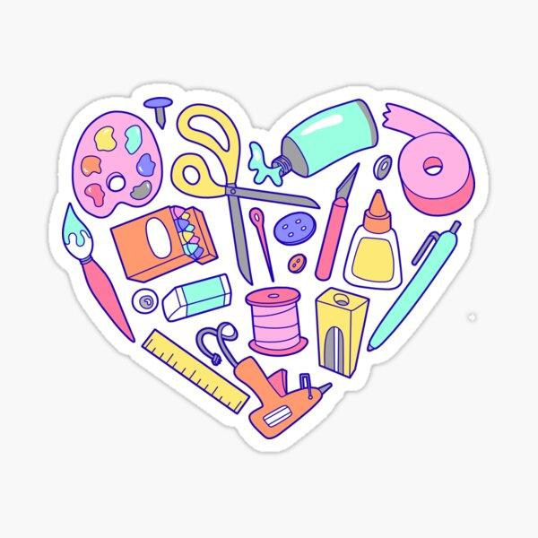 Heart Supplies Sticker