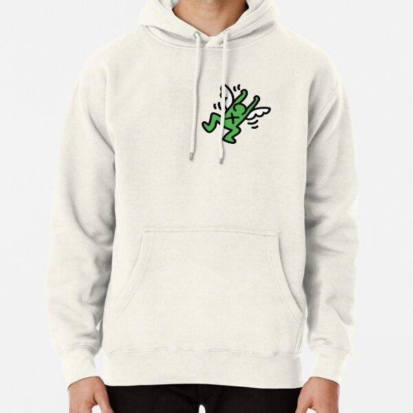 Haring angel verde Sudadera con capucha