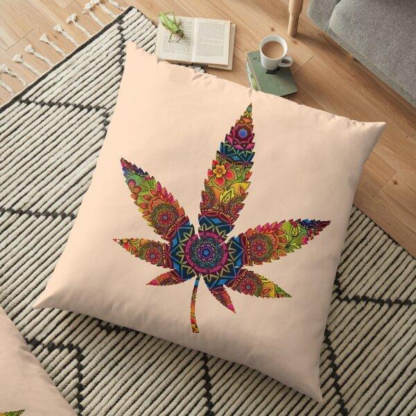 Mandala weed Floor Pillow