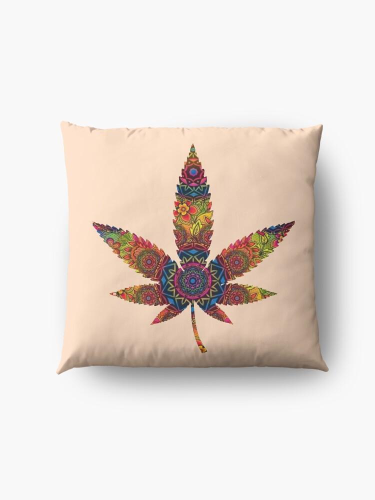 Alternate view of Mandala weed Floor Pillow