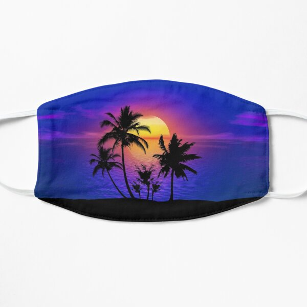Tropical Sunset Palm Trees Mask