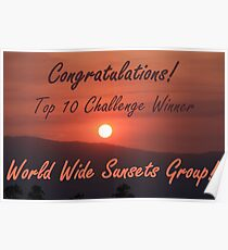 World wide sunsets top 10 banner challenge Poster