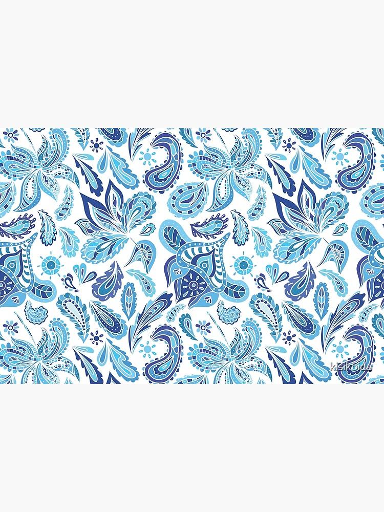 Blue Fresh Indian Pattern by kisikoida