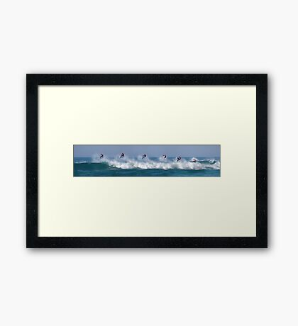 Mick Fanning ~ Bells Beach 2012 - Airborne Pano Framed Print
