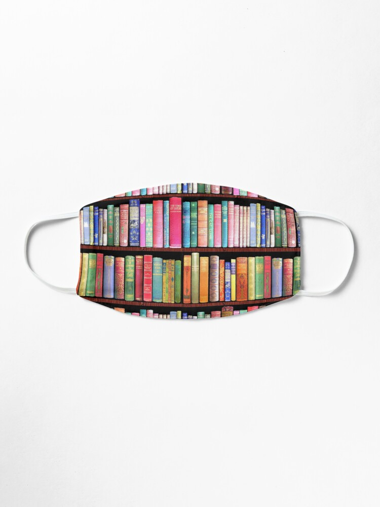 Alternate view of Bookworm Antique books Mask