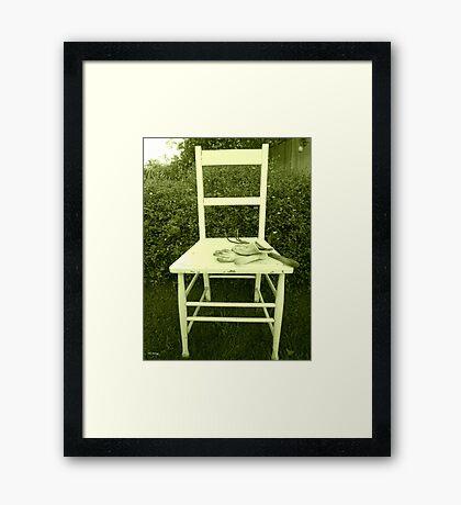 Jardin Chaise Framed Print