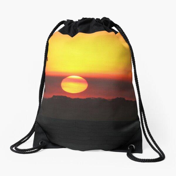 Dramatic African Sunset Savanna Landsacape Drawstring Bag