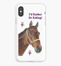 Cute Equestrian Horse iPhone or iPod cases iPhone Case