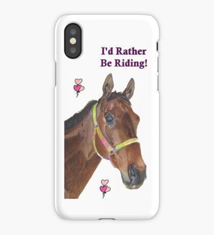Cute Equestrian Horse iPhone or iPod cases iPhone Case