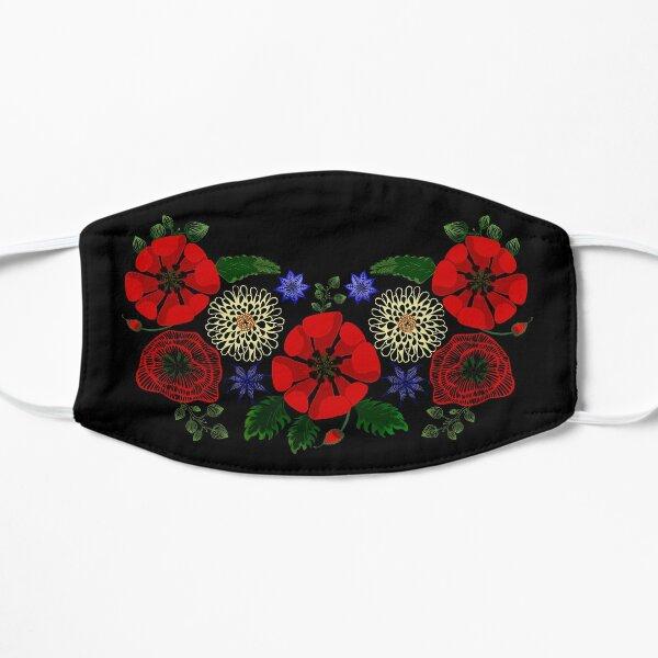 Cute Floral Ukraine Vintage Ukrainian Vyshyvanka Style Mask