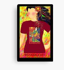 Kabuki, Wearable Art Canvas Print
