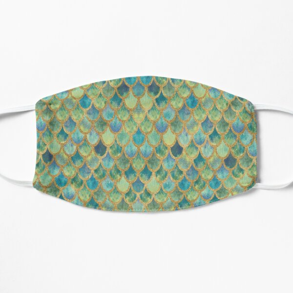 Mermaid Scales (green & gold) Mask