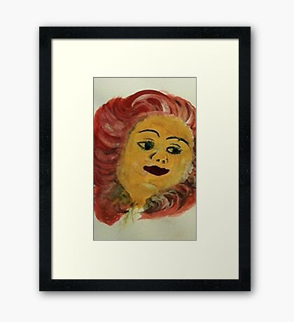 Portrait of ?, watercolor Framed Print
