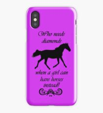 Who Needs Diamonds...Equestrian Horse iPhone & iPod Cases iPhone Case