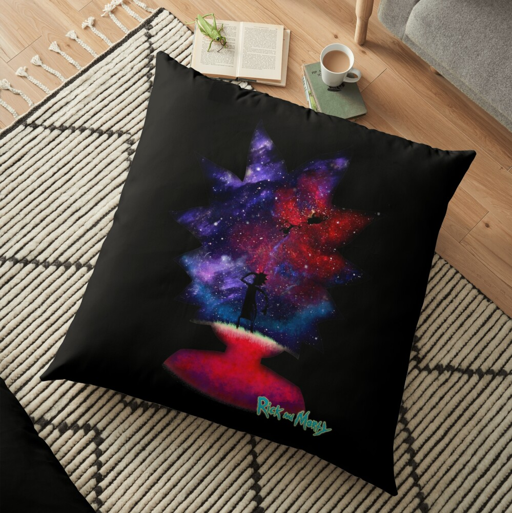 Ricky and Morty Lost in space Floor Pillow