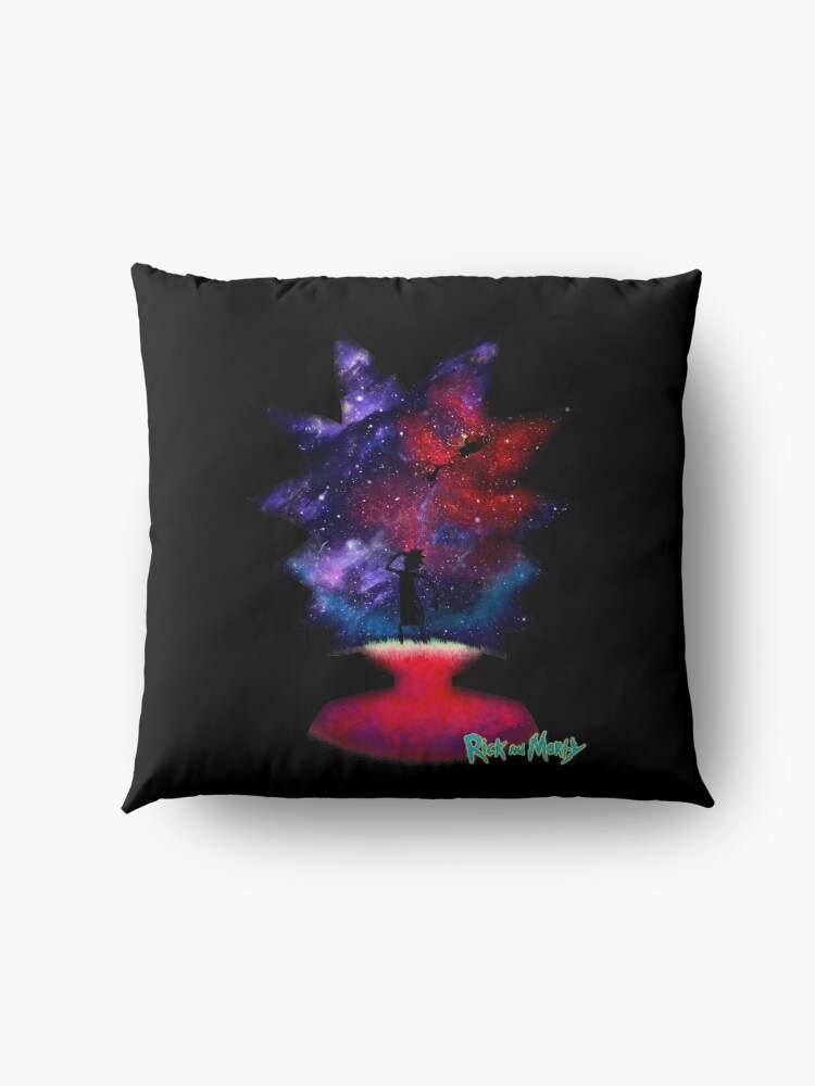 Alternate view of Ricky and Morty Lost in space Floor Pillow