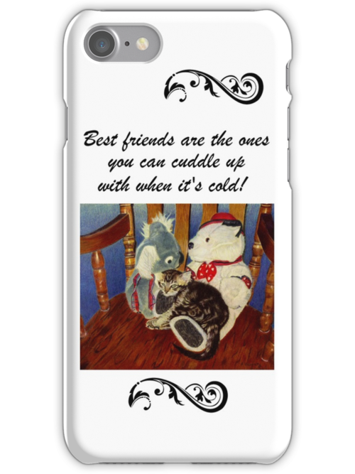 Adorable Kitten with Stuffed Animals iPhone or iPod Cases by Patricia Barmatz